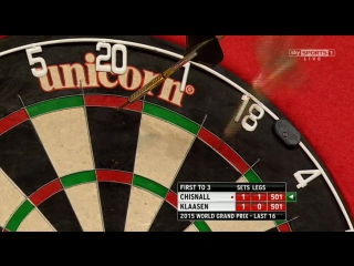 Dave Chisnall vs Jelle Klaasen (World Grand Prix 2015 / Round 2)