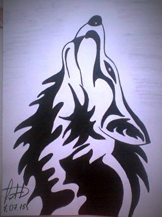 фото рисунки волков