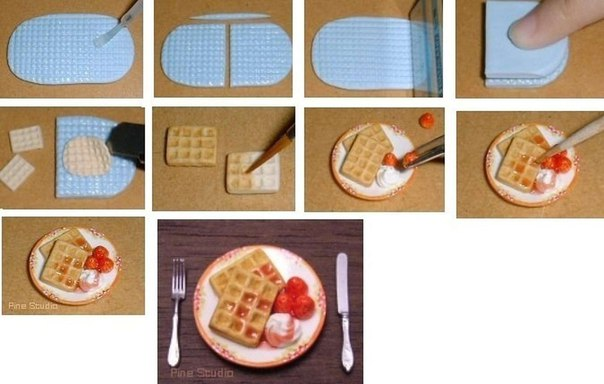 Как сделать еду из бумаги ребенку