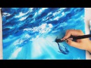 Time Lapse Watercolor Underwater Whale by Untamed Little Wolf