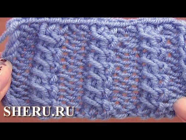 How To Knit Cable Stitch Pattern Урок 11 Узор спицами коса из двух перекрещенных петель