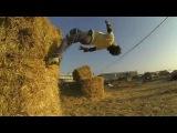 Best Parkour in the field of straw (3run gaza) 2014 part 1