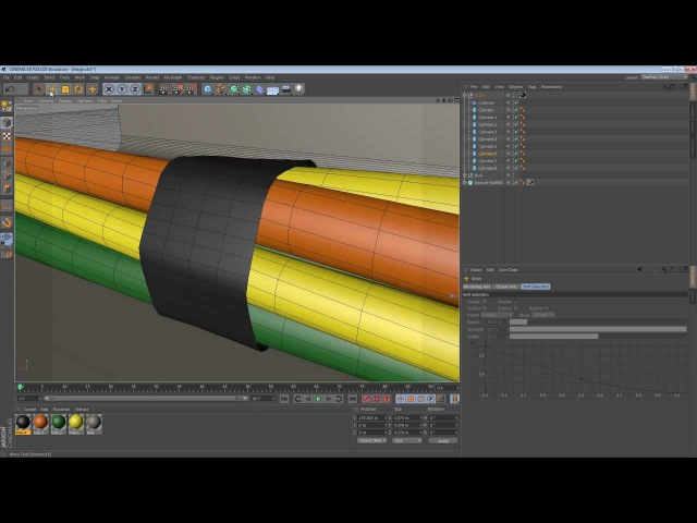 Ten Minute Tip - Taping Cables Together with the Collision Deformer in Cinema 4D