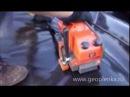 Сварка геомембраны LDPE аппаратом TH 501