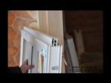 Установка окон и обсады в деревянном доме