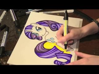 Как рисовать пони Рарити (painting MLP Rarity)