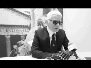 Backstage Interview with Karl Lagerfeld at Fendi Spring-Summer 2016 in Milan