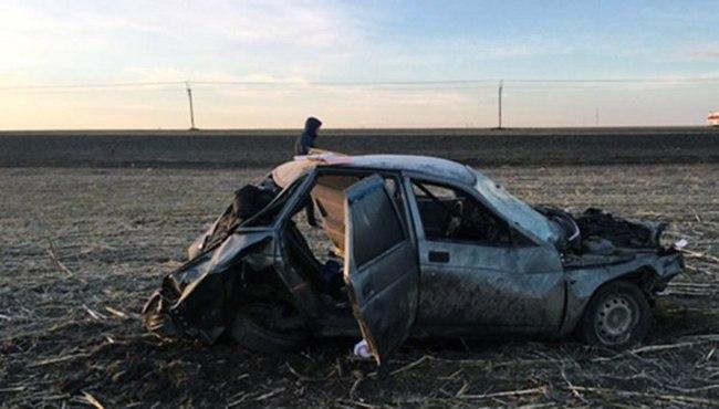 На трассе «Ростов-Таганрог» перевернулась «десятка», водитель погиб
