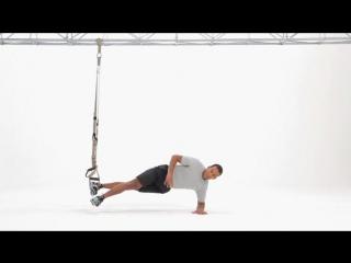 Trx side plank (single leg with knee tuck) level 2