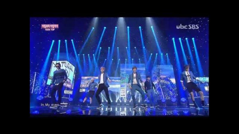 [1080p] 150712 TEEN TOP(틴탑) - ah-ah(아침부터 아침까지) @ SBS Inkigayo