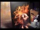 Огненный цветок - аэрография - как создаются картины