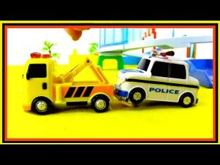Мультик про машинки на английском языке - Команда спасателей.