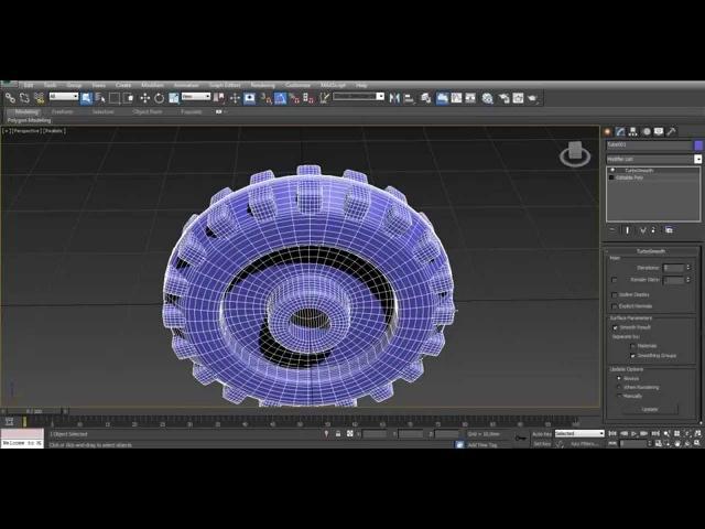 3d max. Урок 9. Создание колеса с грунтозацепами