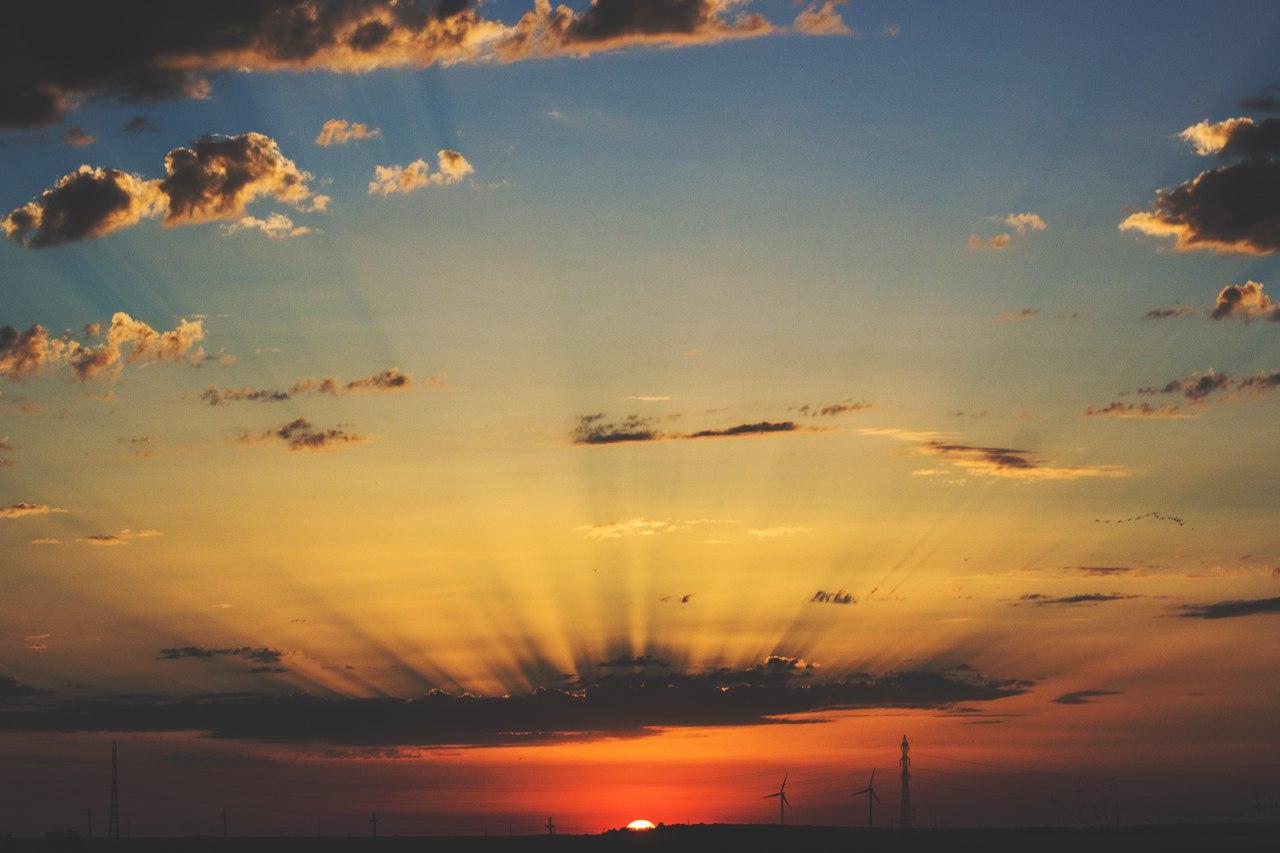 Нежный градиент закатного неба