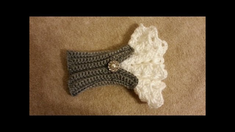 CROCHET How to Crochet Beautiful Victorian Style Wrist Arm Cuff TUTORIAL 181 LEARN CROCHET