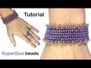 Tutorial Bracelet Herringbone with SuperDuo beads / Мастер-класс браслет Ёлочка из бисера
