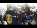 Нападение байкеров на машину Motorcyclist Road Rage XTX 660 CB 400
