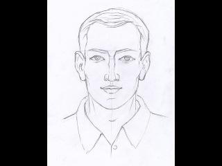 Как нарисовать лицо карандашом. Часть 1. Урок 51. How to draw a face. Lesson 51