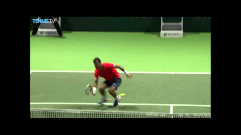 Dodig And Paire Athleticism In Rotterdam 2016 Hot Shot