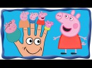 Finger family Peppa pig song, Семья пальчиков свинка Пеппа, Плюшева, Микки маус, Спанч Боб, Мусти