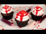 (vk.comLakomkaMKvideo) How to Make Edible Fake Blood &amp Bloody Halloween Cupcakes from Cookies Cupcakes and Cardio