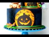 (vk.com/LakomkaVK) The Making of a Halloween Silhouette Cake
