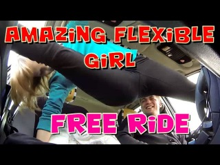 Amazing Flexible Girl a Free Taxi Ride