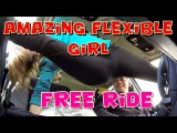 Amazing Flexible Girl a Free Taxi Ride