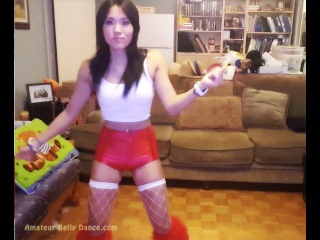 Perfect Fallout 4 Sexy Gamer Girl Sexy Dancing in Go-Go Costume. Cute, Hot Teen ...