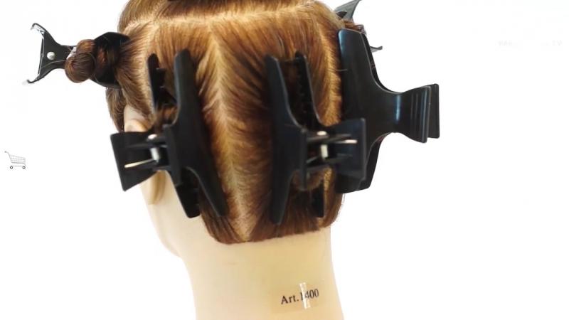 Разделение волос на проборы и зоны. Вячеслав Дюденко парикмахер тв » Freewka.com - Смотреть онлайн в хорощем качестве
