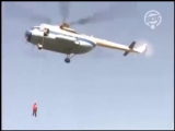 Ректор СПбГУП А.С. Запесоцкий десантировался на День Знаний с 70-метровой высоты, с вертолета.