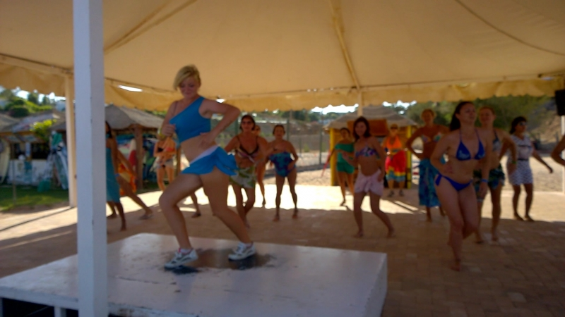 Шарм 2015. Танцы на пляже в отеле)