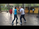 Парк Северное Тушино - танцуем хастл на площадке Летнего Кафе!