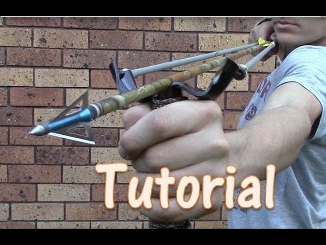 How To Make A 45 Pound PVC Slingbow for $5 Zommbie Defence , fishing , compact