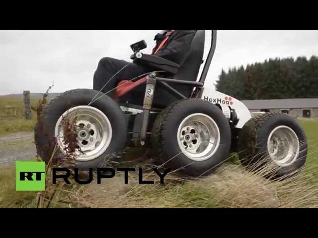 Британец разработал инвалидное кресло-внедорожник