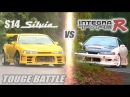[ENG CC] Circuit Club Integra R vs. Champ S14 Silvia Touge Battle HV57