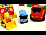 Мультики про машинки: Автобус Тайо! Рабочие машины. Игрушки из мультфильма 타요 꼬마버스 와 친구들