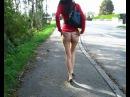 #прогулка #без_трусиков #попа #длинноногая