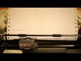 Rocky's Printer - Eye of the tiger on a dot matrix printer HD