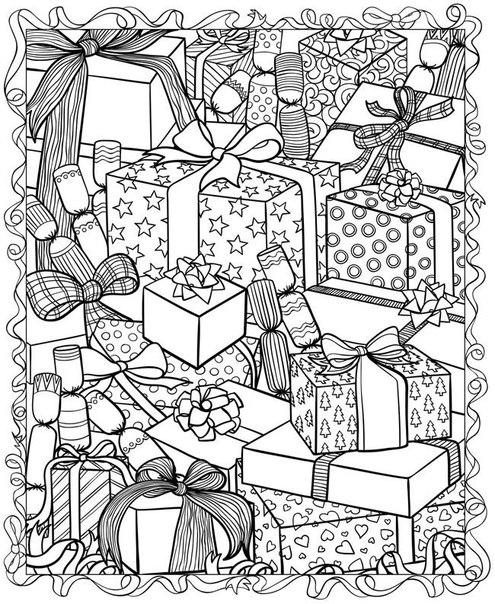 Раскраска Новогодние раскраски скачать