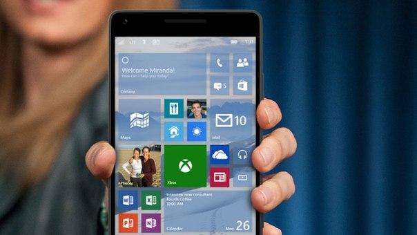 Выпущена сборка Windows 10 Mobile 10581 для участников программы Windows Insider