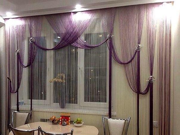 Дизайн веревочных штор фото