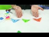 Простые поделки из бумаги! БАБОЧКИ- оригами для детей! Китти!