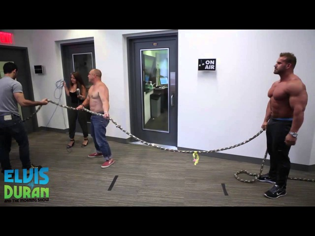 Mr. Olympia Jay Cutler Challenges the Morning Show to Tug of War