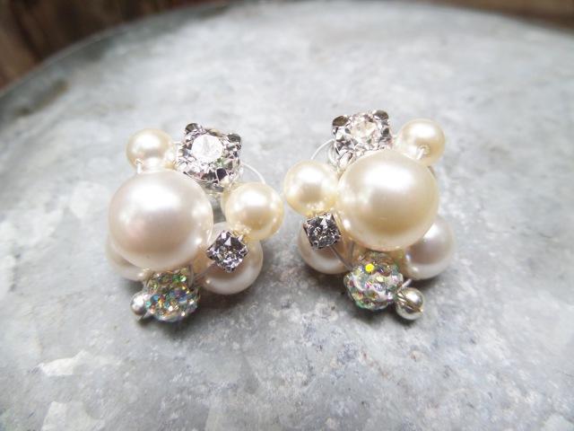 DIY Cluster Pearl Earrings Tutorial | Wedding Jewelry Series | eclecticdesigns