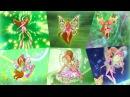 Winx Club - Flora All Full Transformations up to Tynix! HD!