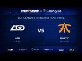 LGD vs Fnatic, Part 2, StarSeries 13 LAN-Final, Day 1