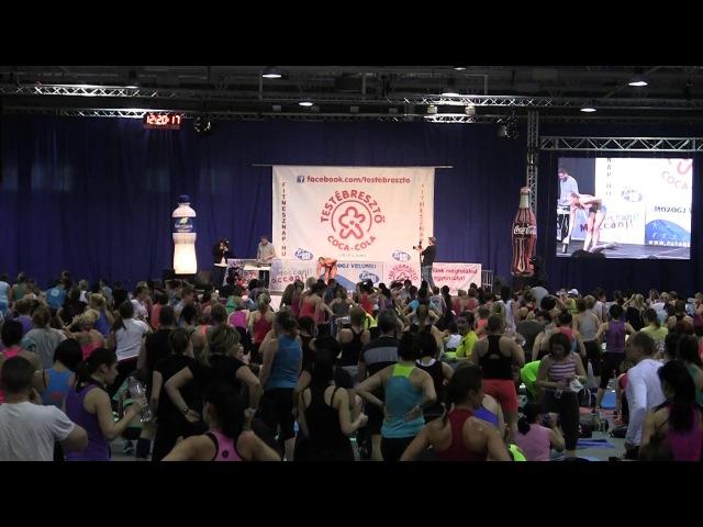 Péntek Enikő - Zóna edzés - Coca Cola Testébresztő Fitnesz nap 2014
