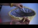 ¡¡ Como forrar capazo de trapillo paso a paso To line a basket of Trapillo step by step