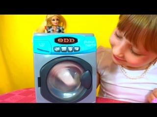 Washing Machine toy for Barbie Детская стиральная машина играем с Барби